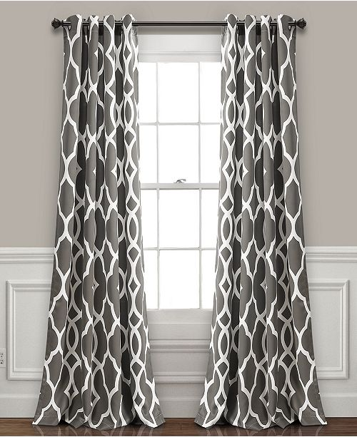 "Lush Decor Connor Geo 52"" x 84"" Curtain Set"