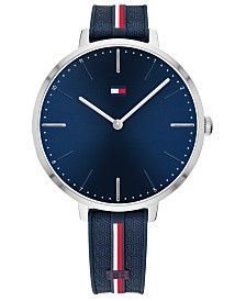 Tommy Hilfiger Women's Blue Silicone Strap Watch 38mm, Created For Macy's