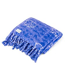 Ivory Ella Gia Ultra Soft Plush Throw