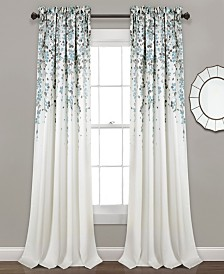 "Weeping Flower Room Darkening 95""x52"" Window Panel Set"