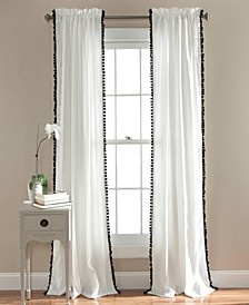 "Pom Pom Trim 50"" x 84"" Single Curtain Panel"