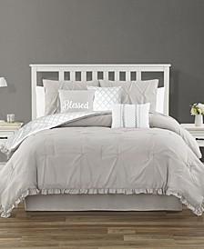 Jessica Ruffled 7 Piece King Comforter Set