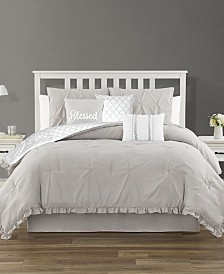 Ruffled King 7 Piece Comforter Set