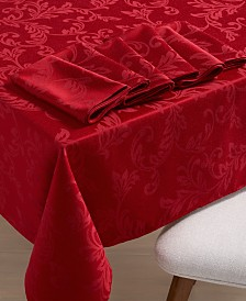 Martha Stewart Collection Winter Scroll Table Linen Collection, Created for Macy's