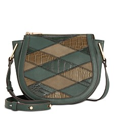 I.N.C. Rilie Patchwork Saddle Crossbody, Created for Macy's