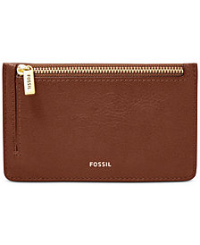 Fossil Logan Leather Zip Card Case