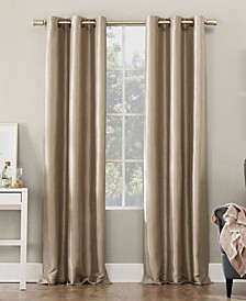 "Bardot Dupioni Faux Silk 100% Blackout Grommet Curtain Panel, 40"" W x 63"" L"