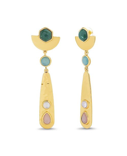 Catherine Malandrino Women's Geo Drop Earrings