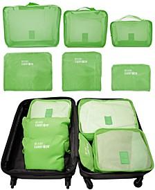 Set of 6 Neon Packing Cubes, Traveler's Luggage Organizer