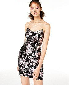 Juniors' Strapless Allover Sequin Dress