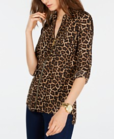 Michael Michael Kors Leopard-Print Top, In Regular and Petite