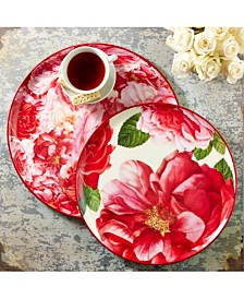Rose is a Rose Set of 2 Rose Print Trays Includes 2 Sizes (dry food only, hand wash only) - Iron