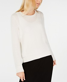 Eileen Fisher Textured Tencel Pullover Sweater, Regular & Petite