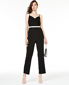 Juniors' Embellished Jumpsuit