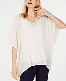 Eileen Fisher Pleated Poncho Top