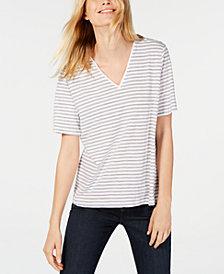Eileen Fisher Striped Organic Cotton T-Shirt
