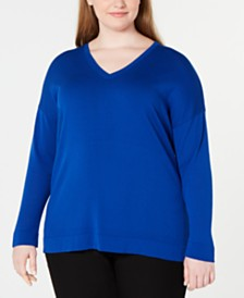 Eileen Fisher Plus Size V-Neck Sweater