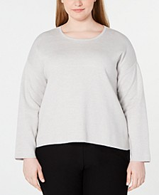 Plus Size Scoop-Neck Organic Cotton Top