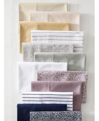 0a15451e74 Spencer Cotton Sateen Count 4-Pc. Solid Queen Sheet Set