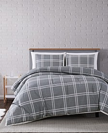 Leon Plaid Twin XL Comforter Set