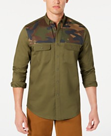Club Room Men's Stretch Camouflage Shirt, Created for Macy's