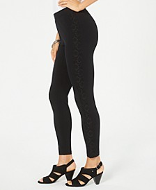 Lace-Trim Pull-On Leggings, Created for Macy's