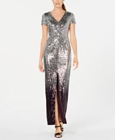 Calvin Klein Ombré Sequin Gown