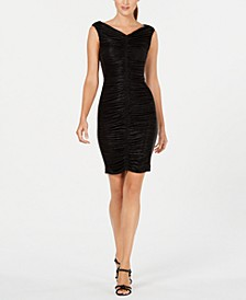 Metallic Ruched Dress