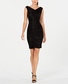 Calvin Klein Metallic Ruched Dress