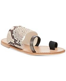 Steve Madden Women's Ronny Toe-Ring Thong Sandals
