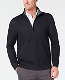 Tasso Elba Mens 1/4-Zip Sweater Created for Macys