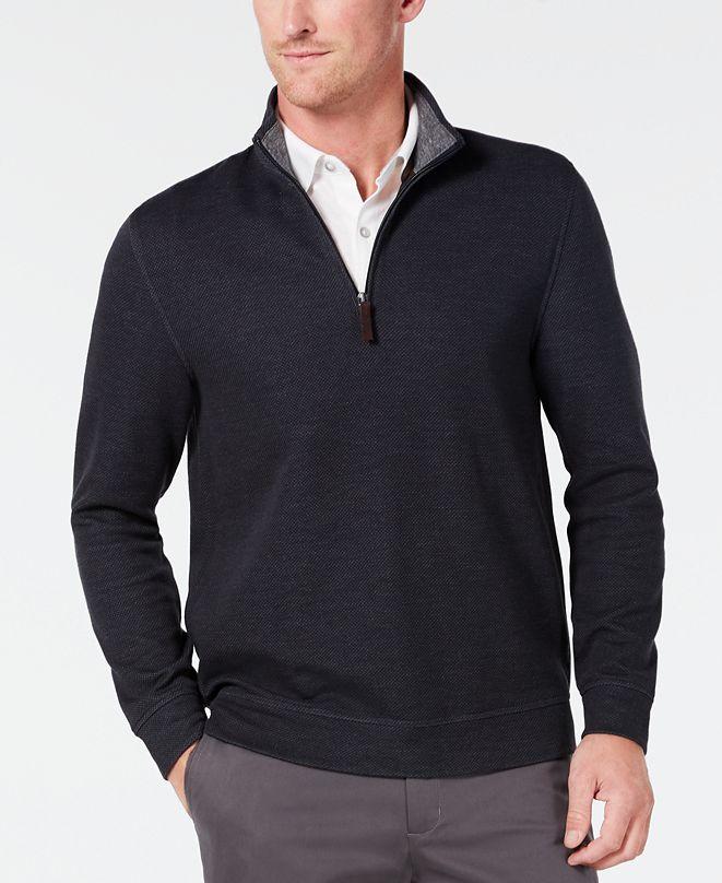 Tasso Elba Men's Quarter Zip Sweater, Created for Macy's