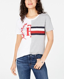 Tommy Hilfiger Cotton Spliced Logo Graphic T-Shirt