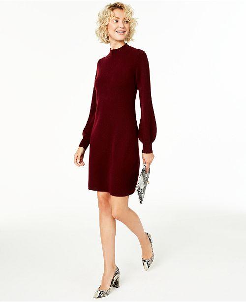 Charter Club Mock-Neck Cashmere Sheath Dress, Created for Macy's