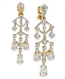 Danori Cubic Zirconia Chandelier Clip-On Drop Earrings, Created For Macy's