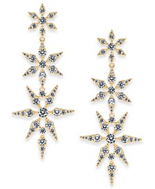 Danori Gold-Tone Cubic Zirconia Triple Star Drop Earrings, Created for Macy's