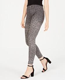 Kendall + Kylie Skyscraper Animal-Print Skinny Jeans