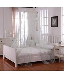 Cottonloft Oasis Round Hoop Sheer Mosquito Net Bed Canopy