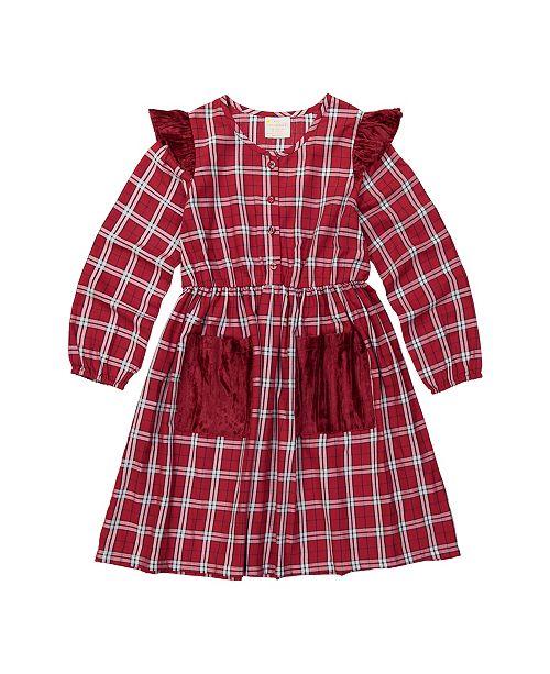 Masala Baby Kids Eve Dress Tartan