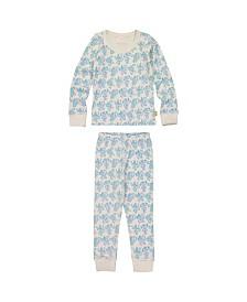 Masala Baby Kids Organic Pajama Set Monkey Madness