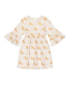 Masala Baby Kids Organic Simple Dress Unicorn Stars