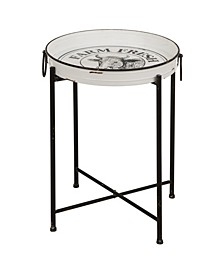 Farmhouse Metal Enamel Serving Table