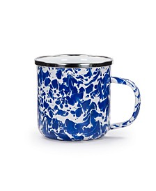 Golden Rabbit Cobalt Swirl Enamelware Collection Mug, 12oz