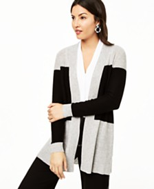 Charter Club Colorblocked Cashmere Cardigan, Created for Macy's