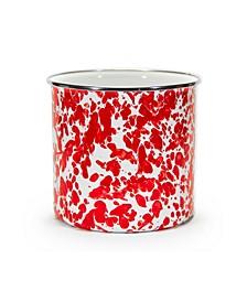 Red Swirl Enamelware Collection Utensil Holder