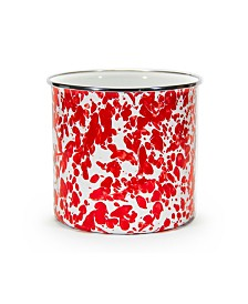 Golden Rabbit Red Swirl Enamelware Collection Utensil Holder