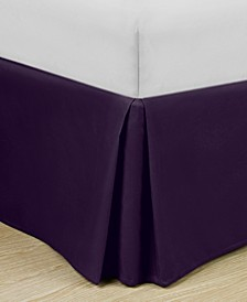 "Home Basic Easy Fit Microfiber Pleated 14"" Drop Full Bedskirt"