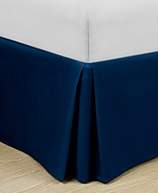 """Home Basic Easy Fit Microfiber Pleated 14"""" Drop Queen Bedskirt"""