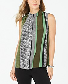 Colorblocked Sleeveless Top, Created for Macy's