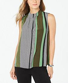 Alfani Colorblocked Sleeveless Top, Created for Macy's